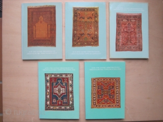 Book: Collection of 5 early Bausback catalogues: Alte und antike Meisterstücke orientalischer Teppichknüpfkunst (Old and Antique Masterpieces of Oriental Rug Art) 1969+1970+1971+1972+1973