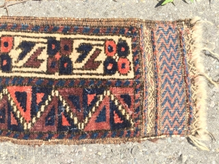 antique NE Persian beluch baluch timuri trapping rifle bag part? 70 cm x 12 cm