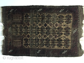 1850s Baluch Timuri  prayer Rug rare typ and color palette sıze 170 cm x 148 cm