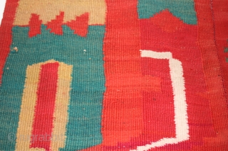early 20th c Central American rug or blanket  circa  137 cm x 230 cm