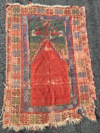 Rare 18th century prayer Rug from Melendez region central Anatolia