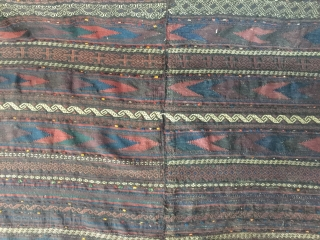 Antique sofreh  second half 19th century  baluch Timuri Kilim  West Afganistan Two panel  12 colors natural dye one insect pınk no repairs Tribal selvedge      ...