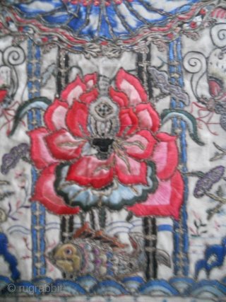 Amazing antique Chinese Embroidery Gold-Silk on Silk Textil Fragment  Please enquire for more Information