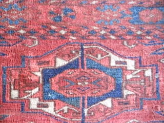 Rar and early Antique 18th.century Tekke Torba fragment 