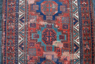 Antique Kazak rug Goyche Göyçe Sewan azerbaijan Novo-Bayazetskiy uyezd  Ново Баязетский Уезд size
