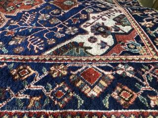 Ghahestan/Kuhestan South Khorasan ; Ferdows   Baluch pre 1900    Outstanding colour palette  ; some old repairs  Cotton warp ; wool cotton mix wefts  171 cm x 114 cm