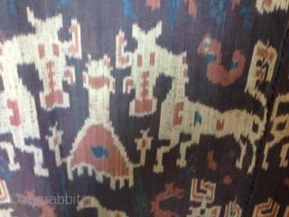 Sumbwa Ikat , Indonesia sumatra hand woven natural dye 2 parts Size : ca 104 cm x ca 240