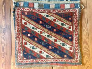 Shahsavan Karabagh  khorjin Southeast Caucasus/Northwest Persia  Size 110 cm to 50 cm age 19th century  in good condition