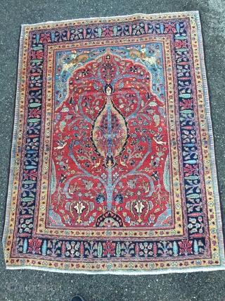 antique Persian prayer rug 145 cm x 185 cm
