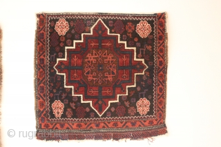 19th century  Afshar beluch  bagface / saltbag  kerman region 