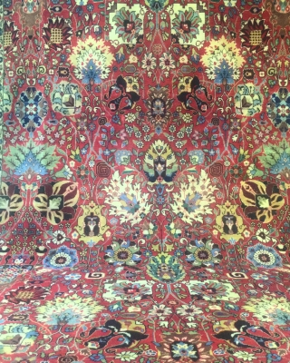 First half 20th Century Täbriz carpet design Kerman carpets Safavid Dynasty  size 290 cm x 400 cm Material Wool on cotton foundation condition ready for display