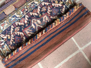 "2' 1"" x 2'2"" S.W.Persian/Basiri 1/2 Khorgin in excellent pile condition.  Minor moth spot damage. Quote includes shipping.  3 day returns policy."