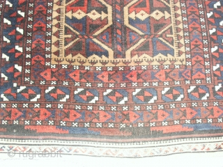 Very fine  antique  Beluch  19th. entury , 78 X 145  cm.