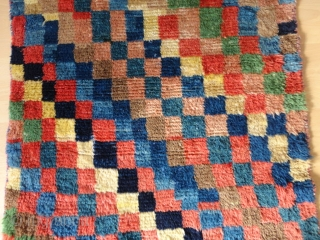 Rare and  superb  antique  Bakhtiari  longpile  Gabbeh  87 X 129  cm.    Pile  from  great  shiny  wool , natural  ...