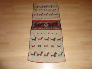 Old  Kurdish  dupelkordjin  Sumagh  47 X 109  cm.  Fein  with  nice  colours  ,  very good  condition ,  Very  rare  ...