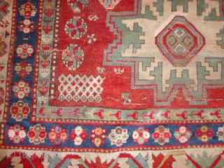 Antique very  archaic  Kasack  mid  19 th. century  178 X 235  cm.    Lustrous  wool , superb  natural  colors , Kompltett  ...