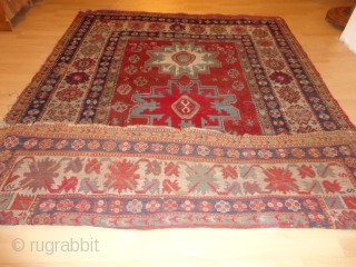 Antique very  archaic  Kasack  mid  19 th. century  178 X 235  cm.