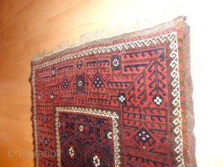 Fantastic  antique  Belutch  19 th. century  98 X 178 cm.