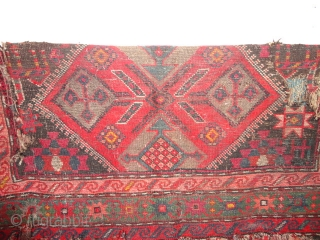 Antique  Kasak with  Armenian  inscription  19 th. century  113 X 193 cm.