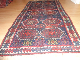 Superb  antique  Persian  Sanjabi  Jaff  Kurd  rug  19  th. century