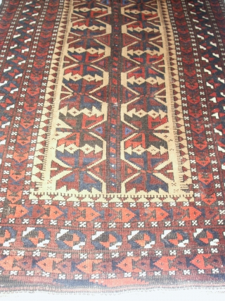Fein  antik  Belutch  19 th. 78 X 145  cm.    Very slight mothdamage , otherwise in good    condition with soumakh end .