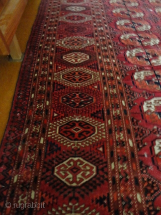 Antique  Tekke  Turkmen Main  Carpet  about 1900 