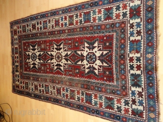 Antique   Kuba Lesghi  19 th. century  125 X 218  cm.