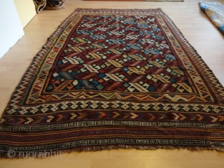 Superb and  rare  fine antique Waramin  Kelim  