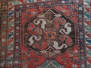 Antique   Cloudband  Kazak  ( Chondoresk )  19 th. century     127 X 194  cm.  superb  natural  colors , archaic  ...