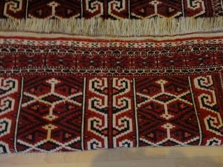 Antique  Turkmen  Yomud  Salachak  or  Goklan  ,prayer  rug    92 X 130 cm.  All  high  quality  fine  wool  ...