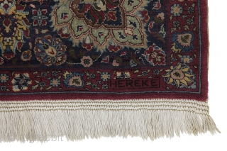 "Antique Hereke Carpet 10'6""x7'5""(321cmx228cm) See more details here: https://www.carpetu2.co.uk/id/ant018-13031/Classic,Antiques,Offers,Hereke,Turkish/"