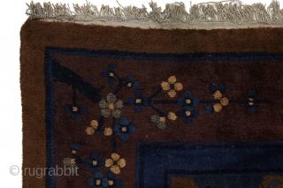 "Peking Art Deco Antique Carpet 11'8""x8'10""(357x271cm) See more details here: https://www.carpetu2.com/id/ant058-6/Antiques,Offers,Khotan,/?lan=int"