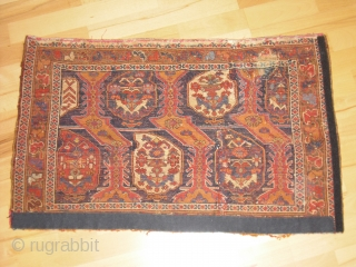 Afshar Bagface Fragment (19 th) - very nice colors and great wool - old restaurations but still decorative - clean - size: 80 x 49 cm