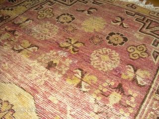 East Turkestan  Khotan  Fragment - very soft and glossy wool - shipping worldwide possible