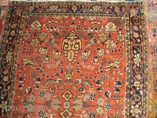 Antique Saruk - rare drawing - Size: ca. 100 cm x 150 cm, professional washed, soft wool, nice colours - worldwide free shipping -