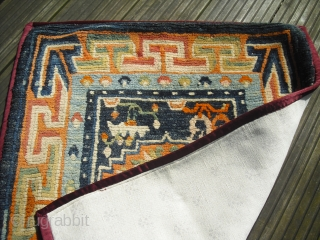 Tibetan mat - meditation rug - probably around 1910 - clean and very nice condition - Size: 80 x 67 cm - worldwide shipping possible