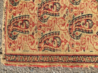 19th century Chorassan/ Doroksh - Fragment - Size: approx 112 x 160 cm - absolutely rare piece with great colors