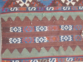 Antique Anatolian Kilim Fragment - probably 19th century - Size: 69 cm x 105 cm (Malatya)