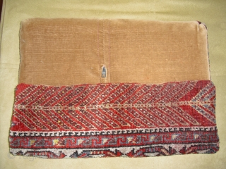 Pillow made of a Qashqai Rug Fragment - good condition - soft and glossy wool - with Zipper on the backside - Size: 42 cm x 39 cm - shipping worldwide