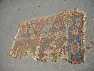 Anatolian Usak Fragment - Size: approx 100 x 150 cm/ 18th century probably - clean