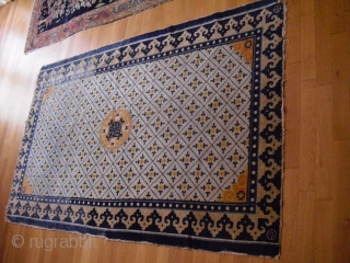 Antique chinese Rug/ Rare Ningxia / Ning Sia Fragment / 19th century probably/ size: 205 x 126 cm/ washed