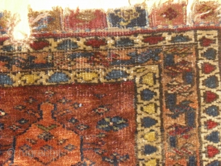 Kurdish Bagface fragment - probably I Qu. 20th - very soft and glossy wool - rare motif - shipping worldwide