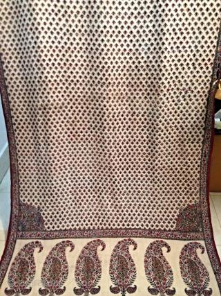 Antique kalamkari.  Antique kalamkari indien du 19e siècle. Très design unique,