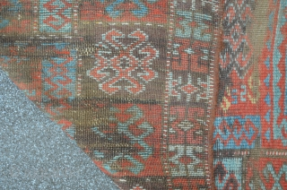 East Anatolian Carpet Fragment, 19th, 214 x 99 cm