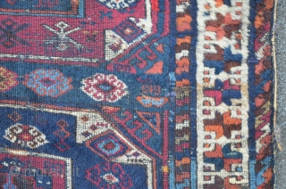 East Anatolian Carpet, probably Malatya, 195 x 102, beautiful Z and S minor borders with great colors.