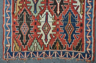 Antique East Caucasian Kuba kilim, 280 x 150 cm, beautiful colors