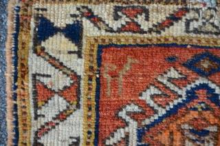 Small Afshar Bagface with stunning main border, 32 x 35 cm