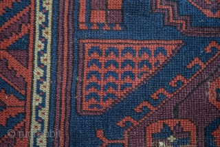 Antique Baluch with Bergama, Karachoff and Chinese influence. Great Purple