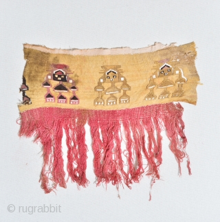 Pre-Colombian Huari (Wari) or Chimu loin cloth 17 x 14