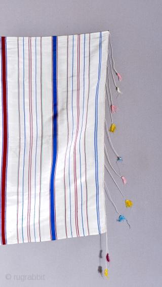 Syrian Arab silk Hatti head scarf (from Homs?). 33 x 32.5 inches